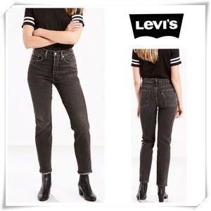Levi's Wedgie Fit High Rise Boyfriend Jeans Black